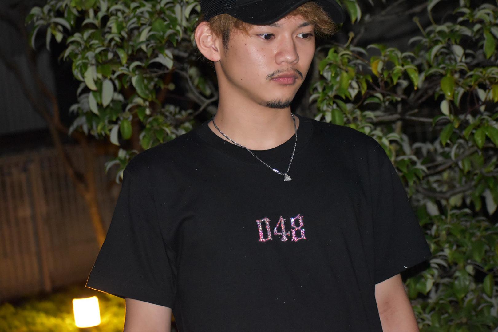 048 LogoTシャツ ラインストーンVer