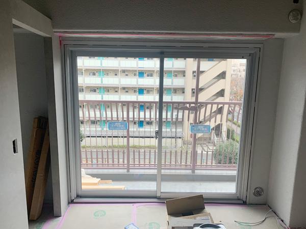 引き違い窓カバー工法 施工後